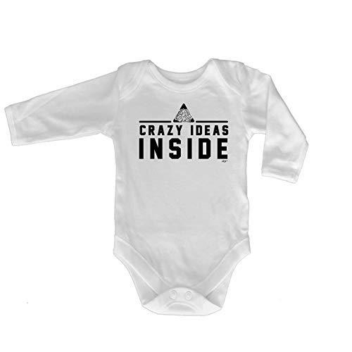 123t Lustiger Baby-Strampler - Jumpsuit Strampelanzug, Geschenk, Neuheit 709 Gr. 6-12 Monate, Crazy Ideas Inside Baby