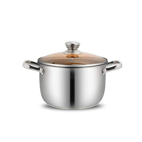 JXLBB Pot en acier inoxydable Petit pot Pot chaud Pot à deux oreilles Cuisinière à induction Cuisinière à épaississement Gaz de pot (Capacity : 6.7L)