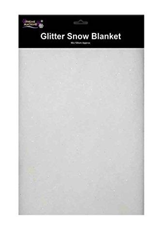 Schnee Decke mit Silber Glitzer–'Weihnachten' Dekoration–Scene Setter–90x 150cm