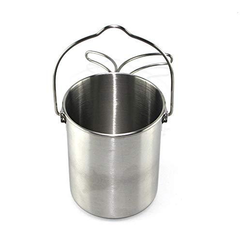 Ezsun Edelstahl 304 Tasse, Tragbare Kaffeetasse, Zusammenklappbare Instant-Nudel-Tasse, Outdoor-Kochgeschirr
