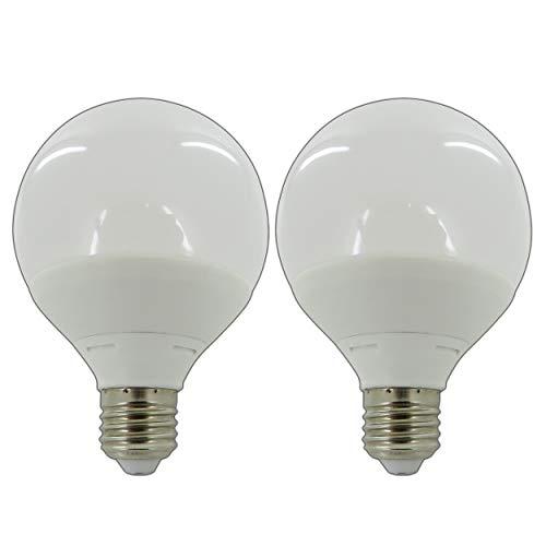 2x Stück - E27 LED Kugelbirne 8 Watt Matt warmweiß 2800K Ballbirne Ball Globus Glühbirne Lampe Leuchte Energiesparlampe Lampe Leuchtmittel A+