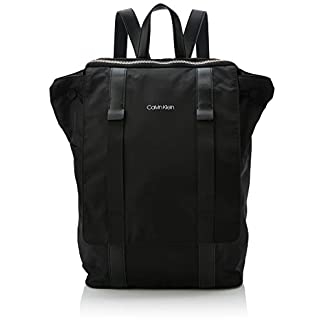 Calvin Klein – Braced F Backpack, Mochilas Hombre, Negro (Black), 18x29x45 cm (B x H T)
