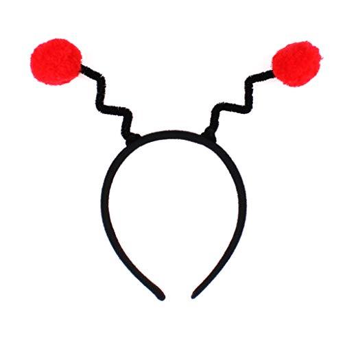 chenpaif Frauen Mädchen Süße Biene Antennen Stirnband Flauschigen Pompon Ball Cosplay Kostüm Haarband Kindertag Bühne Tanzen Party Favors ()