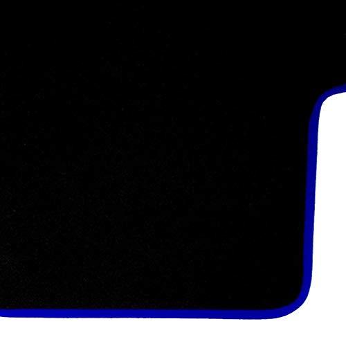 RAC Tapis de Coffre de Voiture Moquette Totalement sur Mesure Noir Excellente qualité avec Contour Bleu (25135)