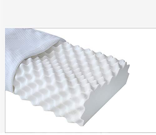 Imagen para Xnbmvc Almohada de látex de Memoria Natural, Almohada de Espuma de látex para el Dolor de Cuello, protección de látex Vertebra Cervical Sleep Aid Masaje Goma Almohada Core Head