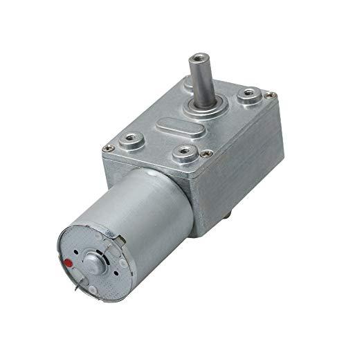 BQLZR Silver 80 mm Länge Hoher Drehmoment Turbine Speed Reducer Motor Cartesan Getriebe 6 V 150 U/min JGY370 Wurm Turbo Elektrischer Getriebemotor -