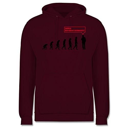 Evolution - Evolution Vermasselt - Männer Premium Kapuzenpullover / Hoodie Burgundrot