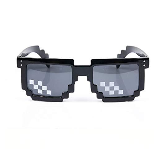 KSHJGV Mosaik-Brille Sonnenbrille 8-Bit-Mosaik-Pixel-Gläser für männlich-weibliche populäre Mann-Frauen-Partei Eyewear