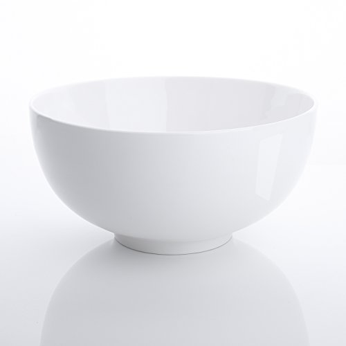 Malacasa Série Regular, 3pcs 1,9L Saladier Bol Porcelaine Bol à Céréales Soupe Vaisselles Céramique Blanc Service de Table 8\