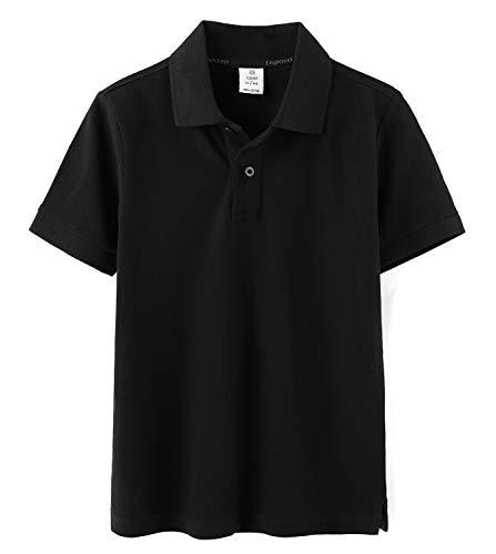 a4a932110 LAPASA Polo para Niños de Manga Corta Camiseta Casual Unisex 100% Puro  Algodón K03