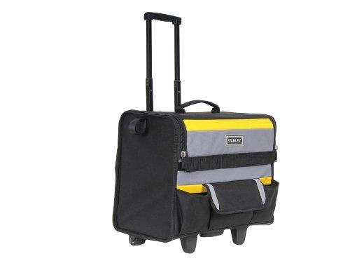 Stanley Werkzeugkoffer / Werkzeugtasche mit Rollen, (44.5x25.5x42cm, wasserfester Kunststoffboden, Trolley aus strapazierfähigem und robustem 600x600 Denier Nylon, viele Verstaumöglichkeiten) 1-97-515 Rollen-werkzeug-tasche