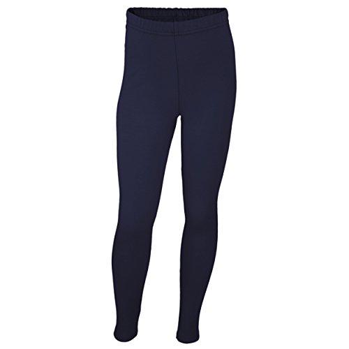 Mädchen Leggings Lang Baumwolle Blickdicht Kinderhosen Leggins Kinder Stoffhose Schwarz Weiß Blau, Farbe: Dunkelblau, Größe: 98