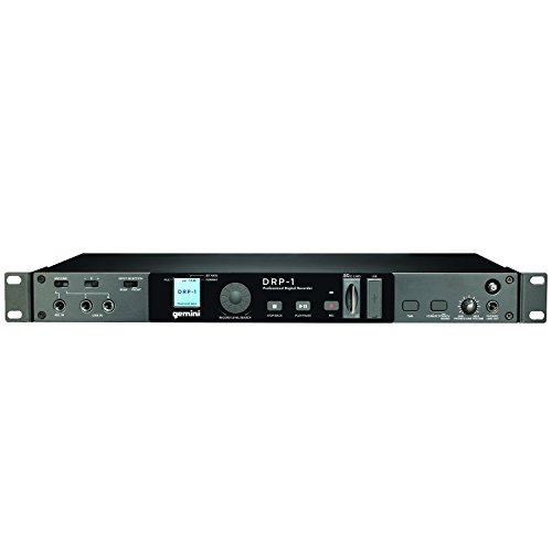 Gemini DRP-1 digital Rackmount Rekorder (SD-Kartenslot, XLR-Anschluss, RCA, LCD-Display, USB) (Dj-digital-recorder)