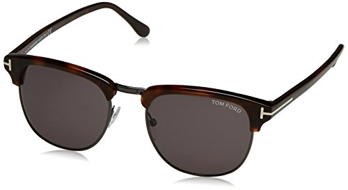 Tom Ford Herren FT0248 52A 53 Sonnenbrille, Braun (Avana Scura/Fumo),