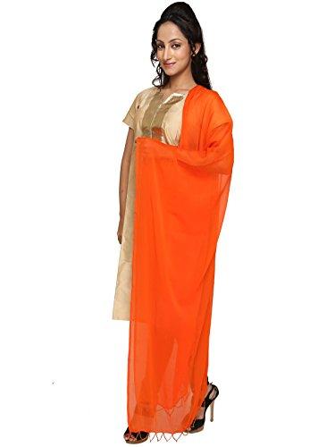 Dupatta Bazaar Women's Dupatta (DB0370_Orange_Free Size)