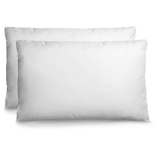 2er Set Kopfkissen Anpassbar (50 x 75 cm) mit Beutel für überschüssige Füllung - Ohne Chemikalien (OEKO-TEX) - Orthopädisches Kissen Für Alle Schlafpositionen - Reißverschluss - 3 Jahre Garantie