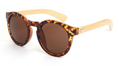 Preisvergleich Produktbild Panelize Vintage Spiegel Sonnenbrille mit Holzrahmen getönte Gläser Unisex Bamboo Bambus (Braun)