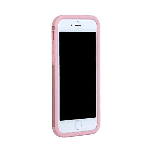 iPhone 7 Coque,Lantier Thin Frosted Matte Finish design antichoc 2 en 1 Combo Protection Defender Cover Retour Coque pour Apple iPhone 7 4.7 pouces 2016 Noir+Gris Rose Gold+Pink