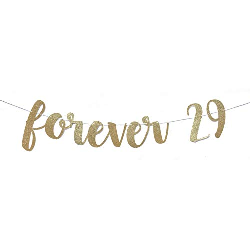 Tr674gs 30Th Birthday Decorations Forever 29 Banner Dirty 30 Banner 30Th Birthday Banner Dirty Thirty Banner 30Th Birthday for Her Gold Banner Decorations Supplies Celebration Party Banner