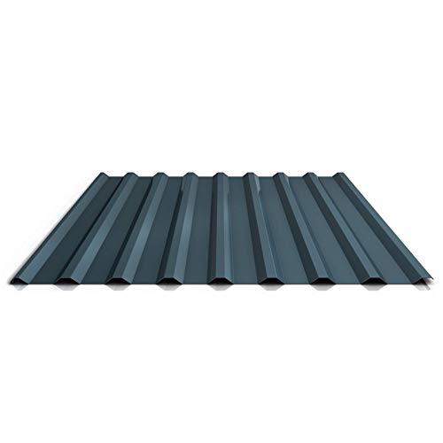 Trapezblech | Profilblech | Dachblech | Profil PS20/1100TR | Material Stahl | Stärke 0,50 mm | Beschichtung 35 µm | Farbe Dunkelgrau