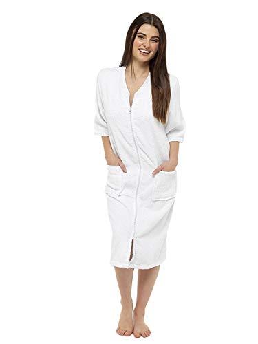 Toallas toalla 100% algodón bata mujer Botón través