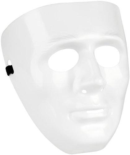 Maskenball Kostüme (infactory Kostüm-Maske: Weiße Maske aus Hartplastik)