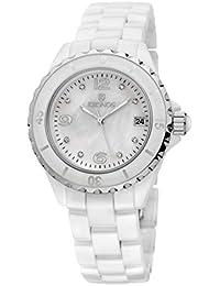 KRONOS - Ceramic White 854.8.32 - Reloj de señora de Cuarzo, Brazalete de