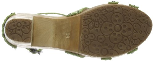 Aces of London Woman Sandal High Leather, Mules Femme Vert - Grün (light green)