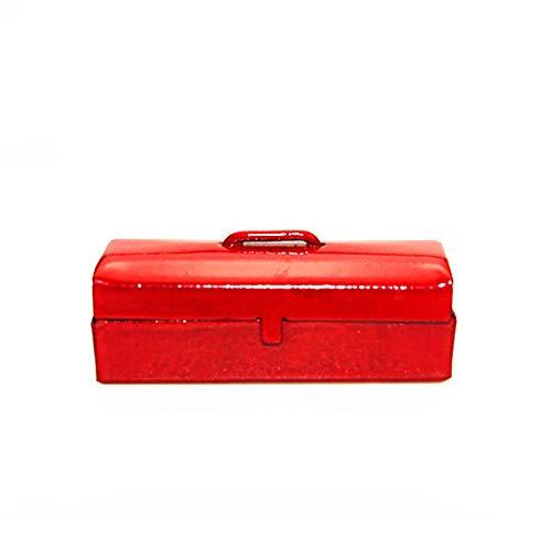 1/12 DIY Miniatur Werkzeugkiste Spielzeug Puppenhaus Zubehör Geschenk Geschenk - Blau rot ()
