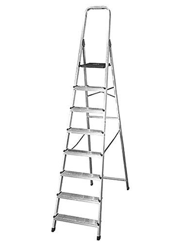 Silbor - Escalera aluminio domestica 8 peldaños