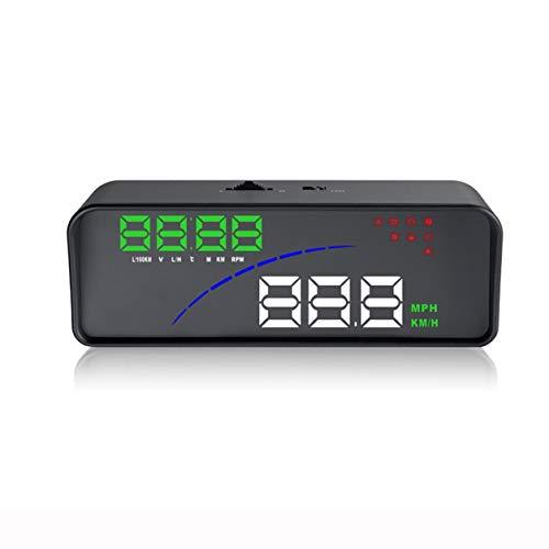 P9 Smart Digital Meter Car HUD OBD2 Head Up Display,black