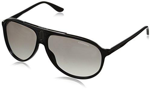 Carrera Unisex-Erwachsene 6015/S IC Sonnenbrille, Schwarz (Shiny Black), 61