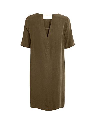 Vila Viraf 2/4 Sleeve Dress Verde Donna Verde