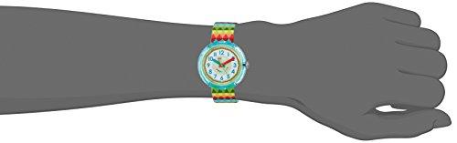 Flik Flak Mädchen Analog Quarz Uhr mit Stoff Armband FPNP015 - 4