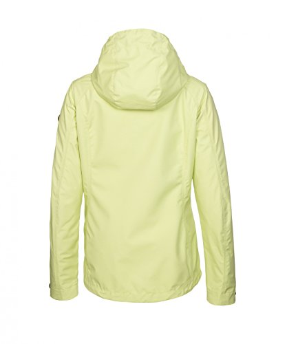 killtec - Damen Soft Shell Jacke mit abzipbarer Kapuze, wasserdicht, atmungsakiv, verschiedene Farben, Terena (29688) Hellgelb (00655)