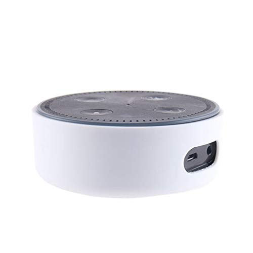 Colorful Für Echo Dot 2. Generation Hülle, Alexa Protective Case, Echo Dot Case, Amazon Echo Dot-Hülle,Silikon Schutzhülle für Amazon Echo Dot 2. (Weiß)
