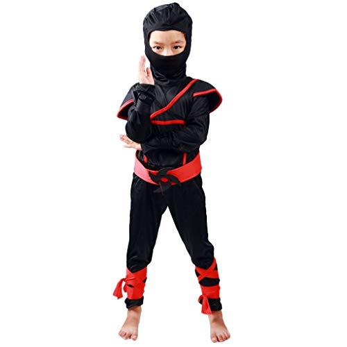 Morza Halloween-Kinder Ninja-Kostüme Halloween-Party-Jungen-Mädchen-Krieger Stealth Samurai Cosplay Assassinen-Kostüm-Partei-Abendkleid