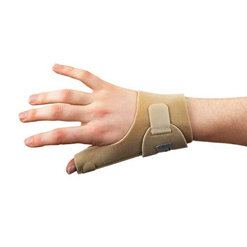 Actesso Daumenschiene Daumen Bandage - Orthese für Verstauchung, De Quervain und Sehnenscheidenentzündung - Einheitsgröße Links Oder Rechts (Rechts, Beige) -