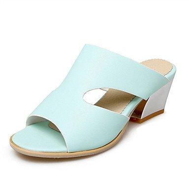 LvYuan Da donna-Sandali-Serata e festa Formale Casual-Innovativo Club Shoes-Quadrato-Materiali personalizzati Finta pelle-Blu Rosa Bianco Blue