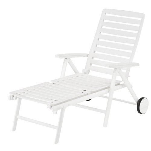 Kettler 0302015-5000 Chaise Longue Wave Châssis d'Aluminium Blanc 190 x 82,5 x 41 cm