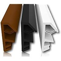 Holzfensterdichtung mit Antidehnungsfaden - 4mm Nutbreite - 12mm Falz – mit Ausreißsteg - schnelles und einfaches Einbauen hochwertige Gummidichtung Fensterdichtung Türdichtung Zimmertürdichtung (Schwarz 5m)