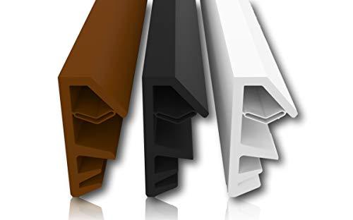 Holzfensterdichtung Antidehnungsfaden 4mm Nutbreite 12mm Falz Ausreißsteg einfaches Einbauen hochwertige Gummidichtung Fensterdichtung Türdichtung Zimmertürdichtung (Schwarz 5m)