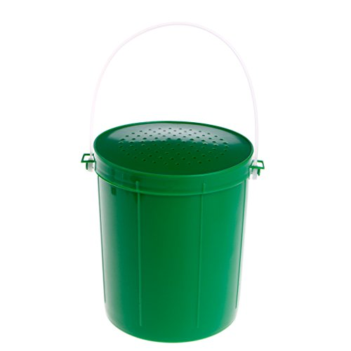 Lergo Angelköder Eimer Atmungsaktiv Lebendwurm Maggot Wurm Köder Container Tackle, grün, L -