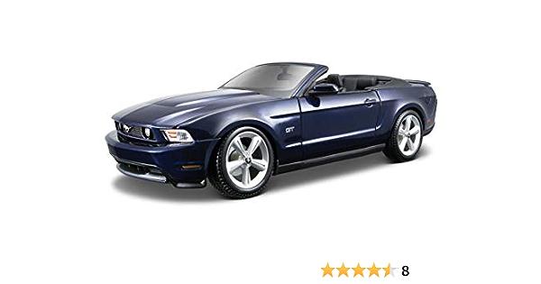 Maisto Ford Mustang Gt Cabrio 10 Modellauto Mit Federung Maßstab 1 18 Türen Und Motorhaube Beweglich Fertigmodell Lenkbar 24 Cm Blau 531158 Spielzeug