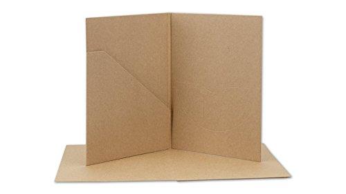 Preisvergleich Produktbild CD- und Foto-Hülle, mit Tasche und Schlitz, Kraftpapier 283 g/m², braun - 10er Pack