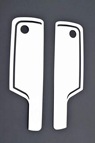 VNVIS 2 faros de acero inoxidable rodean decoraciones para camiones XF 106 Euro6 accesorio pulido de espejo