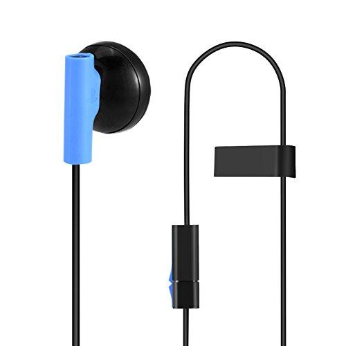 Richer-R Casque de jeu avec micro pour manette Sony Playstation 4 PS4 avec haut-parleur intégré 9,2 mm Contrôle on/off pour microphone