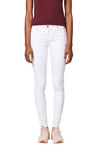 ESPRIT Damen Skinny Jeans 038EE1B024, Weiß (White 100), 28/32