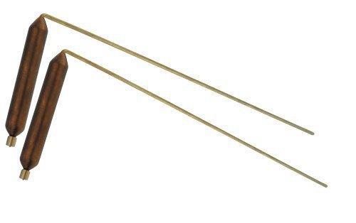 Wünschelrute Länge:27 cm, Messing mit Kupfergriff