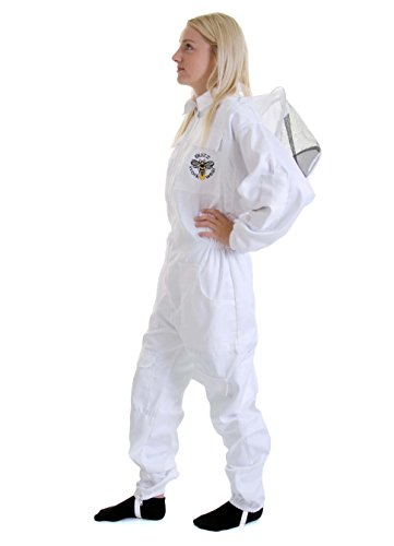 Beekeeping bee suit - MEDIUM with round hat and twin hoop veil 3